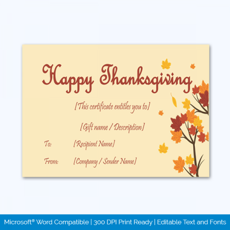 Thanksgiving-Gift-Certificate-Template-(Tree,-#5608)-pr