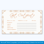 Pdf Gift Certificate