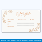 Free Gift Certificate Template 3 Per Page