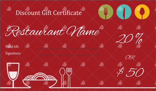 Restaurant-Discount-Gift-Certificate-Template