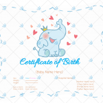 Birth-Certificate-Template—Elephant-Themed