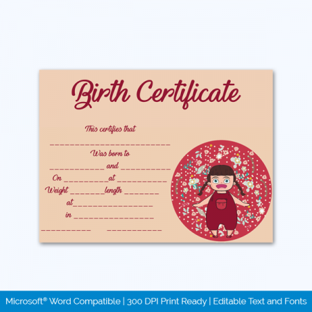 Birth-Certificate-Template-Baby-Girl