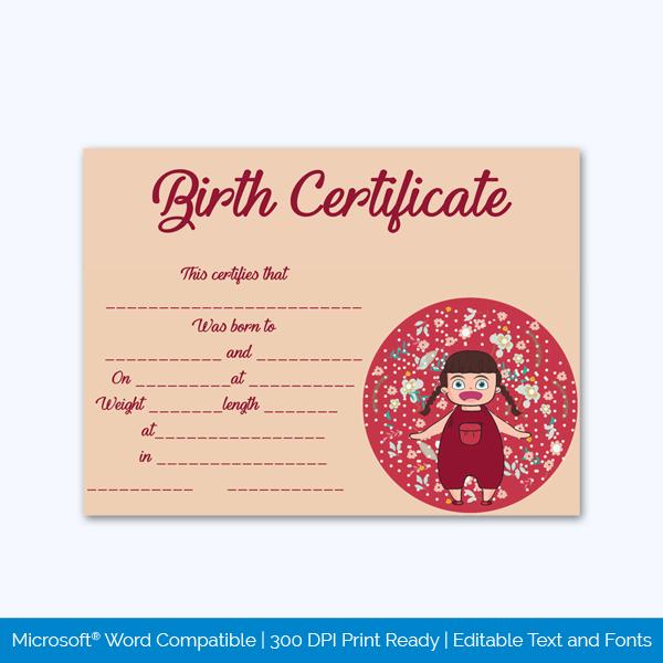 Birth-Certificate-Template-(Baby-Girl)-pr