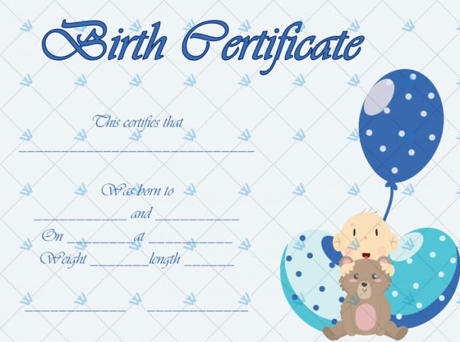 Birth-Certificate-Template-(Ballons,-#4336)