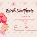 Birth-Certificate-Template-(Ballons,-#4353)