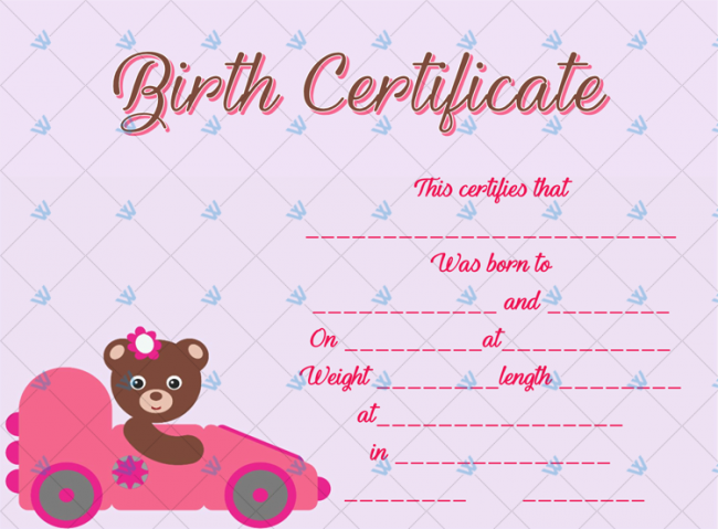 Birth-Certificate-Template-(Bear-Car)