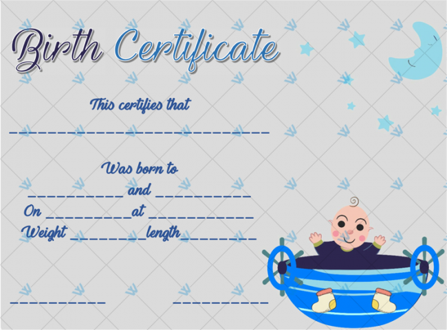 Birth-Certificate-Template-(Boat,-#4339)