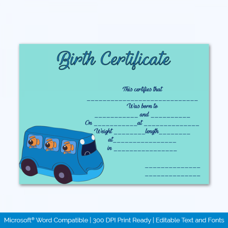 Birth-Certificate-Template-(Bus,-#4346)-Preview