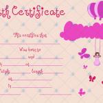 Birth-Certificate-Template-(Butterflies,-#4362)2