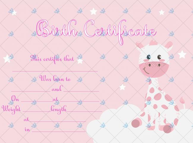 Birth-Certificate-Template-(Girraffe)