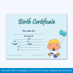 Birth-Certificate-Template-(Happy-Baby,-#4350)-Preview