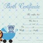 Birth-Certificate-Template-(Lion,-#4341)