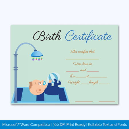Birth-Certificate-Template-(Playing,-#4335)-Preview