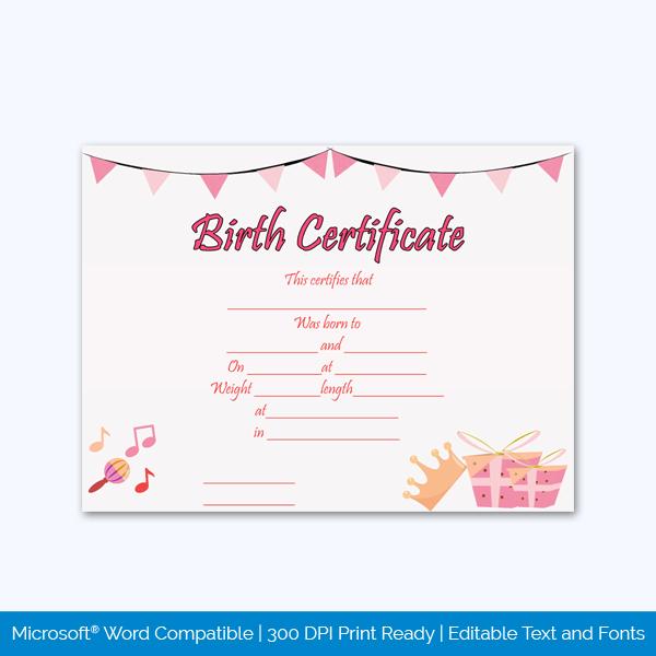 Birth-Certificate-Template-(Princess,-#4354)-pr