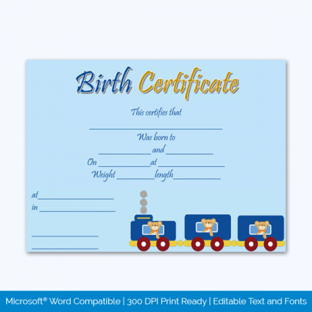 Birth-Certificate-Template-(Train,-#4345)-Preview