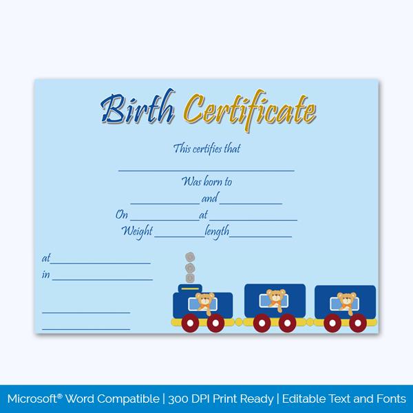 Birth-Certificate-Template-(Train,-#4345)-Preview