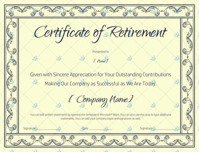 Blank-Certificate-of-Retirement-(#928)-Blue