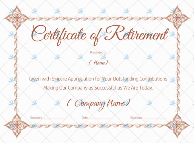 Blank-Certificate-of-Retirement-Template-(Red)-(#926)