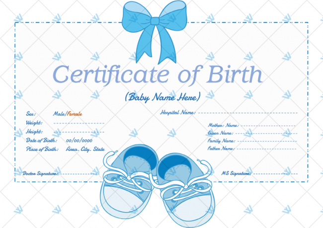 Blue-Shoes-Themed-Birth-Certificate