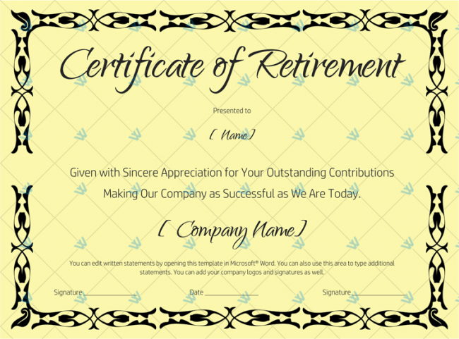 Certificate-of-Retirement-(#927)---Black-(in-Word)