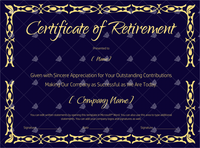 Certificate-of-Retirement-(#927)---Blue-(Sample)