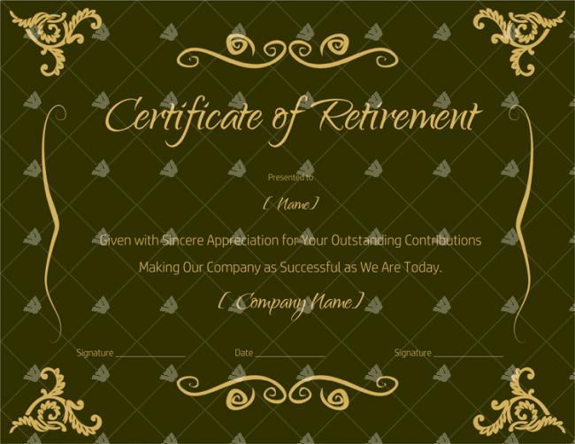 Certificate-of-Retirement