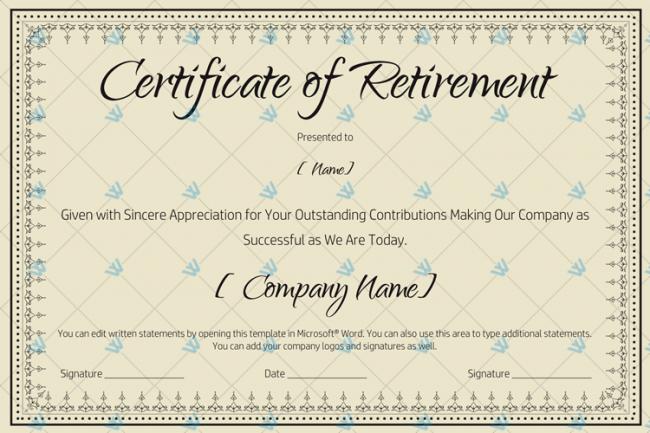 Certificate-of-Retirement-Template-(Khaki,-#931)