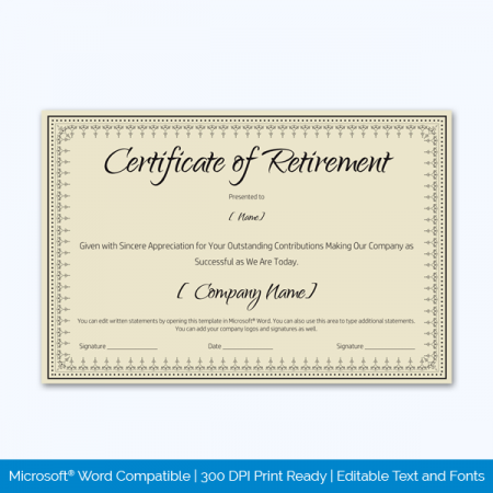 Certificate-of-Retirement-Template-(Khaki,-#931)-Preview