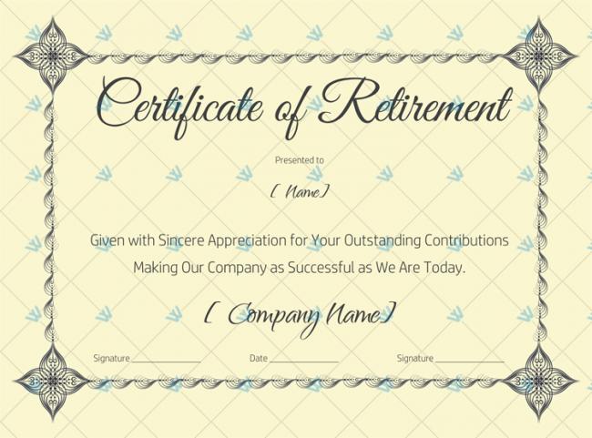 Certificate-of-Retirement-Template-(Skin)-(#926)