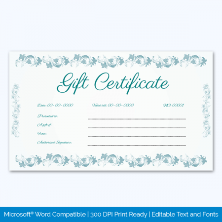 Free Gift Certificate Template Pages