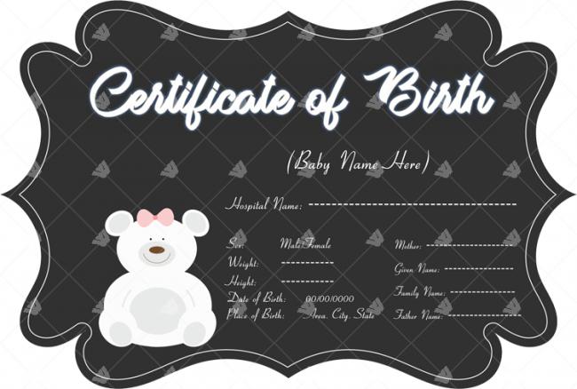 Teddy-Bear-Themed-Birth-Certificate