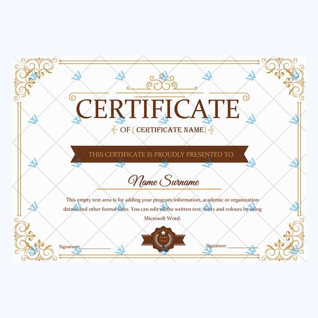 Award Certificate for Appreciation