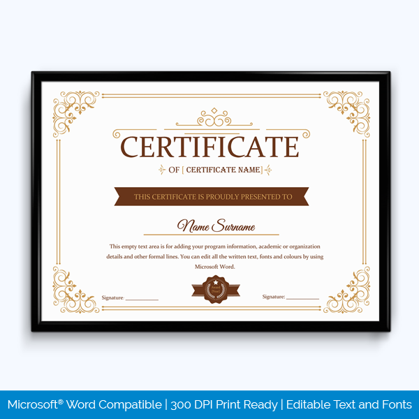Award Certificate for Appreciation