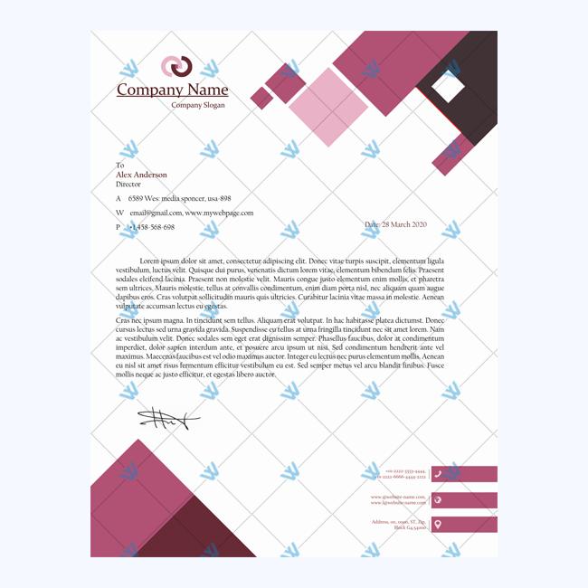 Letterhead Template Format