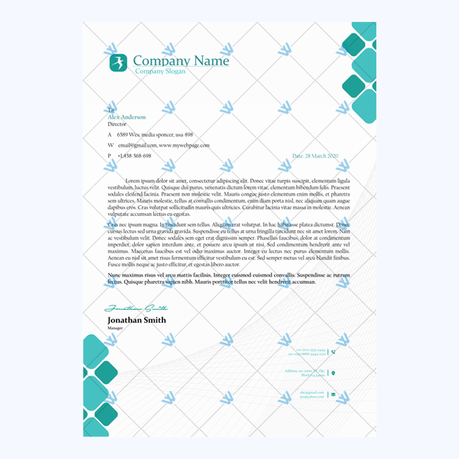 Editable Sample of Letterhead