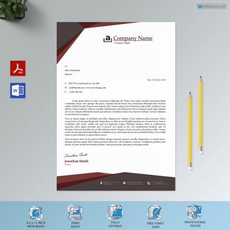 Letterhead Template 10 Preview