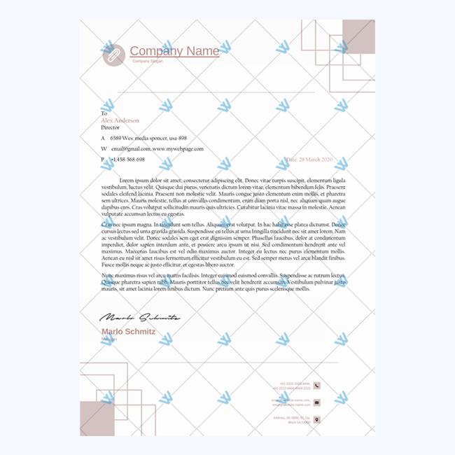 printable letterhead template formal