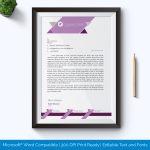 Editable Formal Letterhead Template