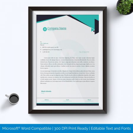 Letterhead template sample
