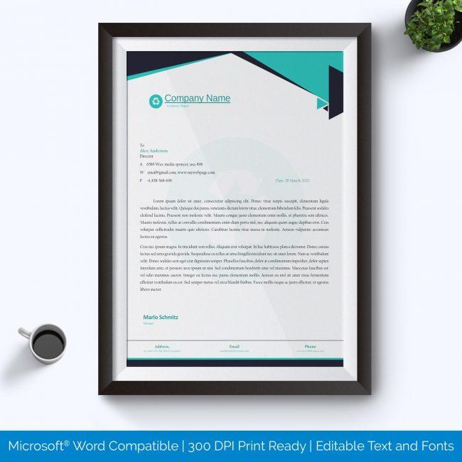 Letterhead template sample