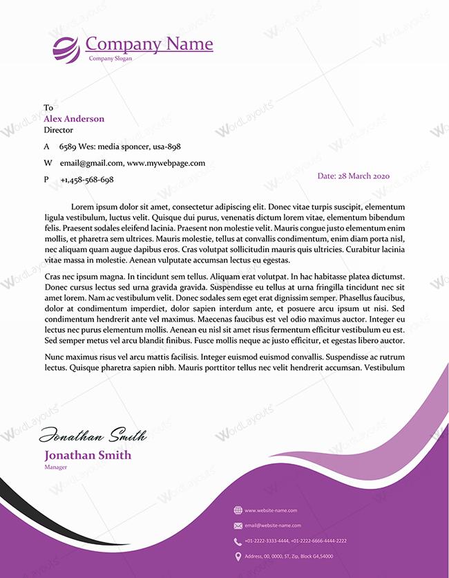 Letterhead Template 25 PR