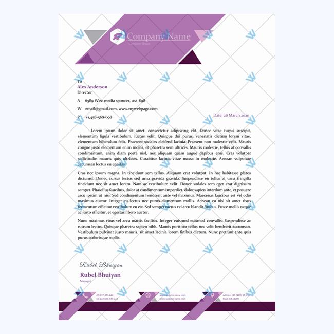 Formal Letterhead Template from www.wordlayouts.com