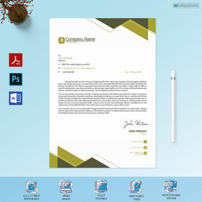 Letterhead Template 27 PR