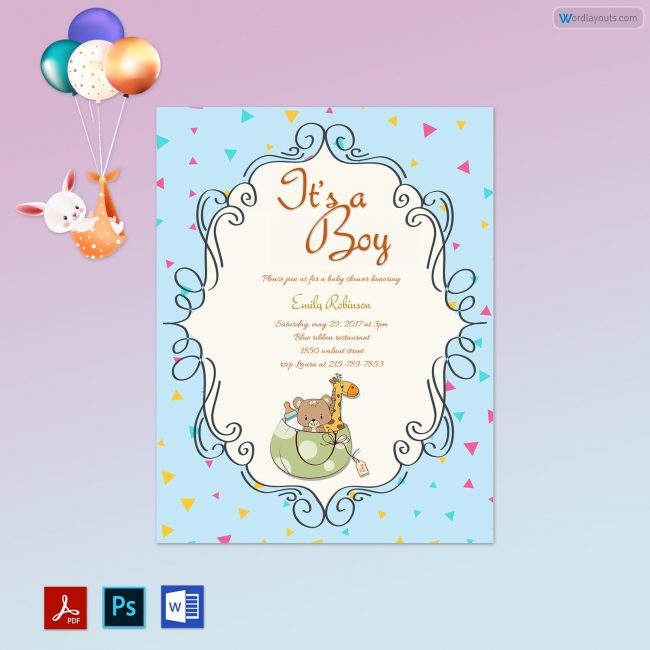 Editable Baby Shower Template