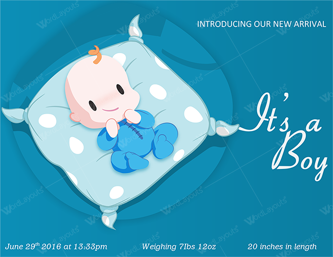 Baby Announcement Sample