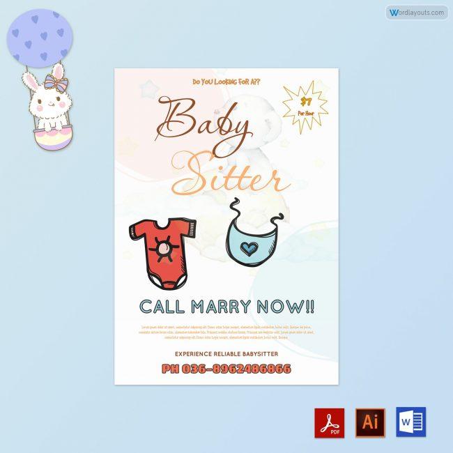 Baby-Sitter-Flyer-Blue-Themed-PR