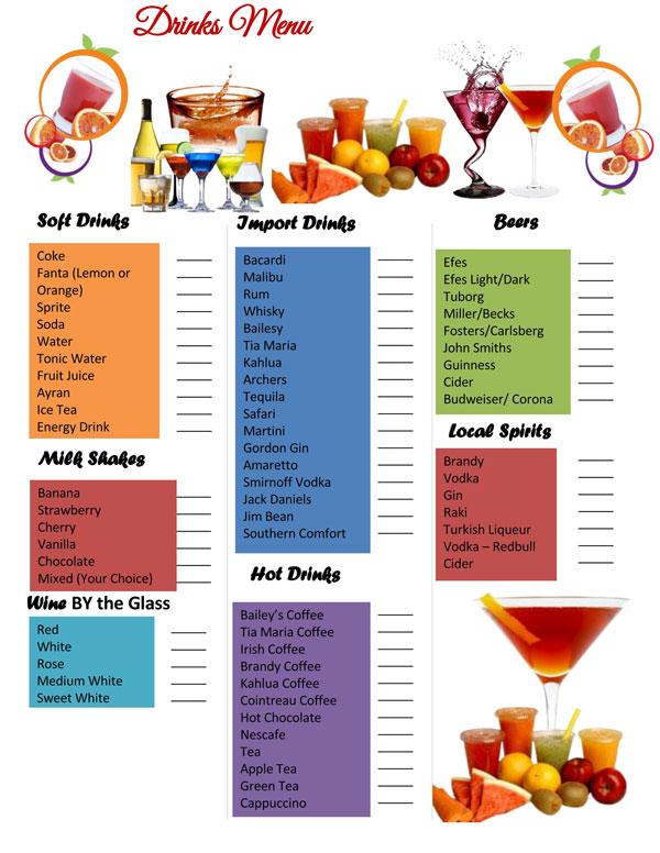 Drink Menu Template 03