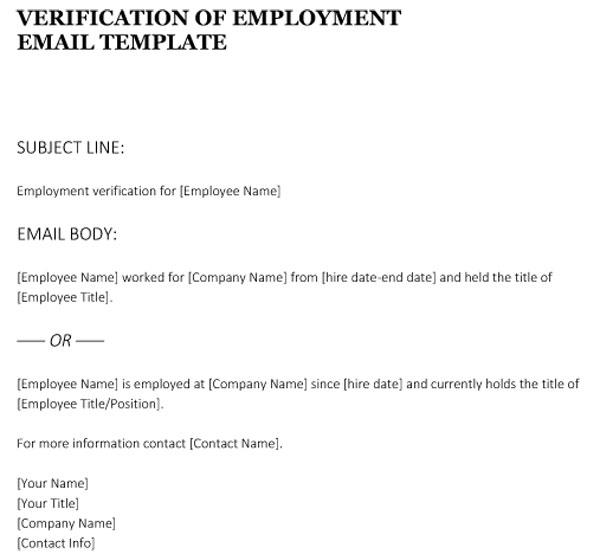 Employment Verification Form(Email Format) 02