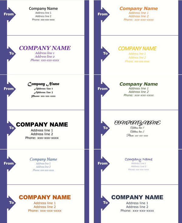 Mailing Label Template 02