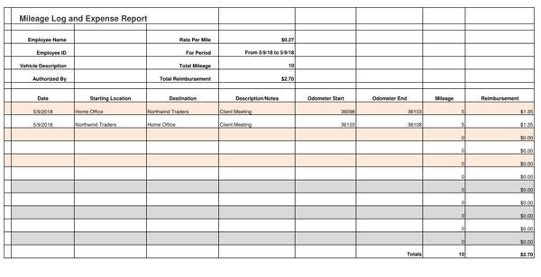 Mileage Reimbursement Claim Form 02